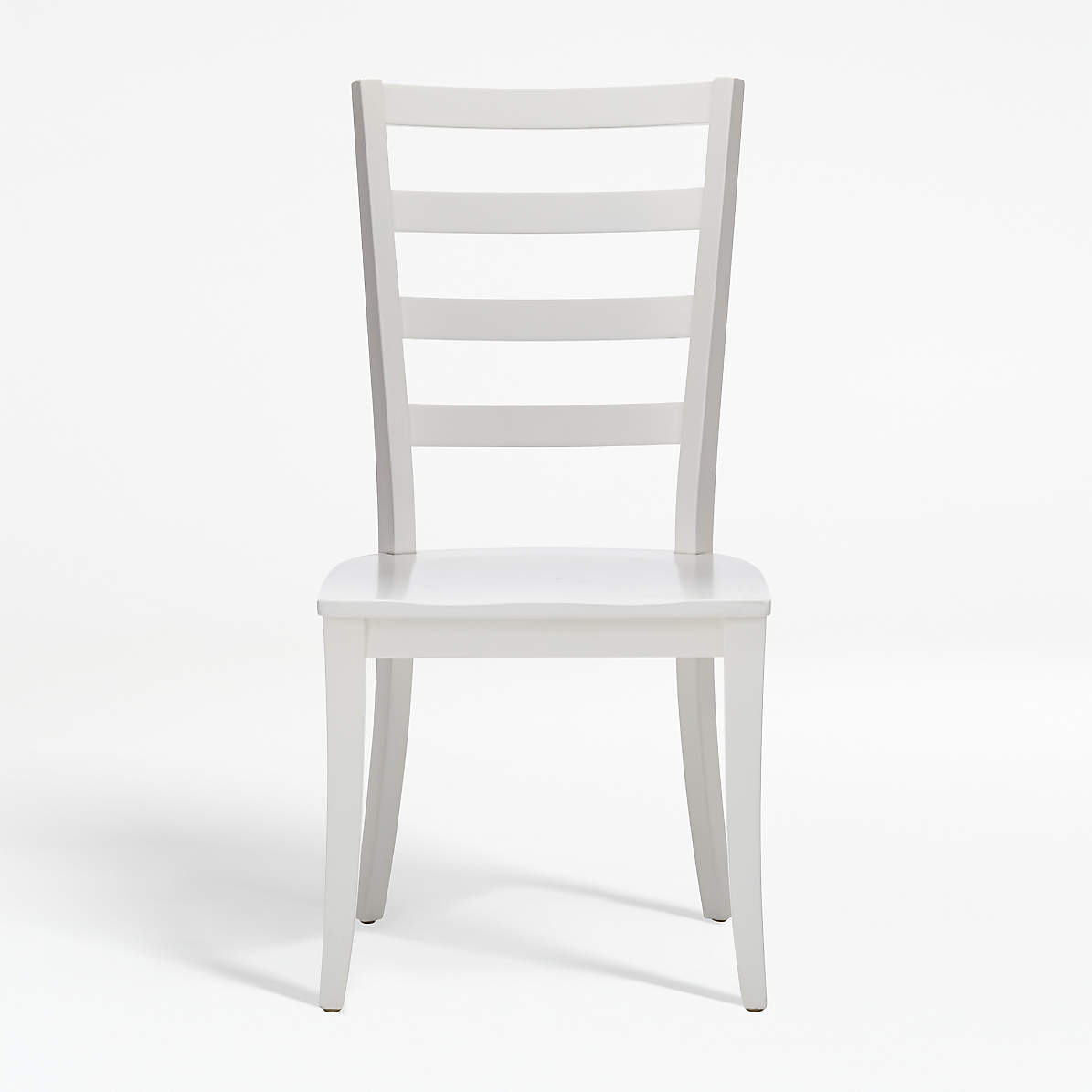 Picture of: Harper White Ladder Back Dining Chair Reviews Crate And Barrel