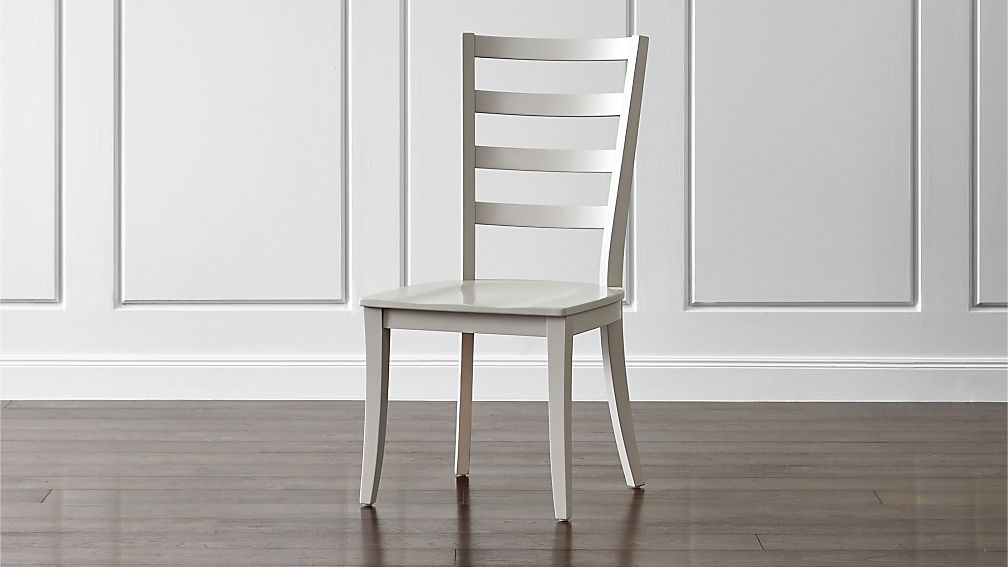 harper dove grey ladder back dining chair reviews crate and barrel