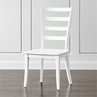 Harper White Ladder Back Dining Chair & White Dining Chairs | Crate and Barrel