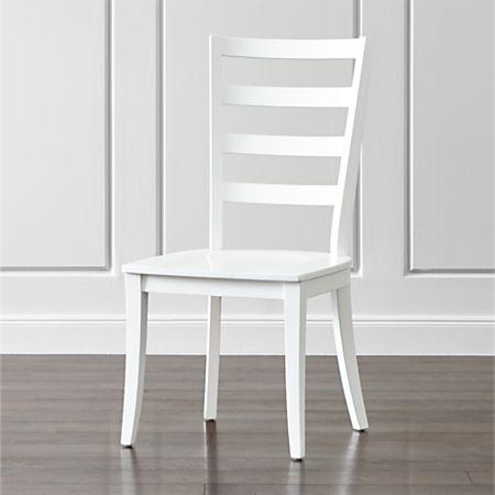 Sensational Harper White Ladder Back Dining Chair Pdpeps Interior Chair Design Pdpepsorg