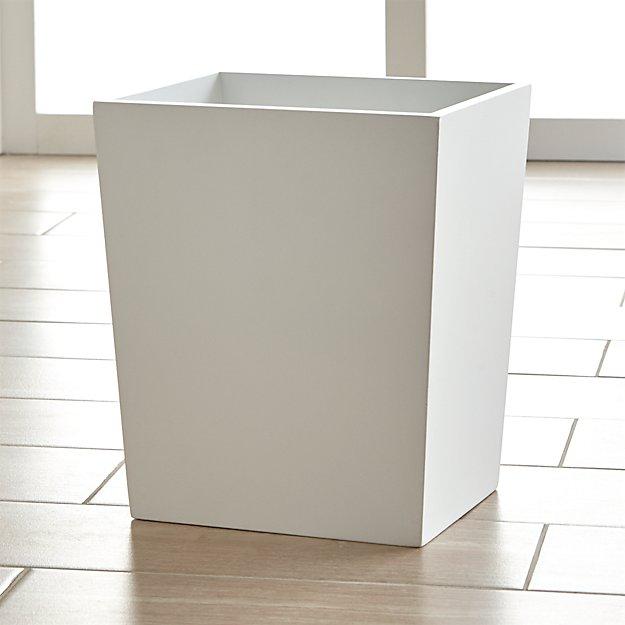 Minimalist Bathroom Checklist: Harper White Bathroom Trash Can