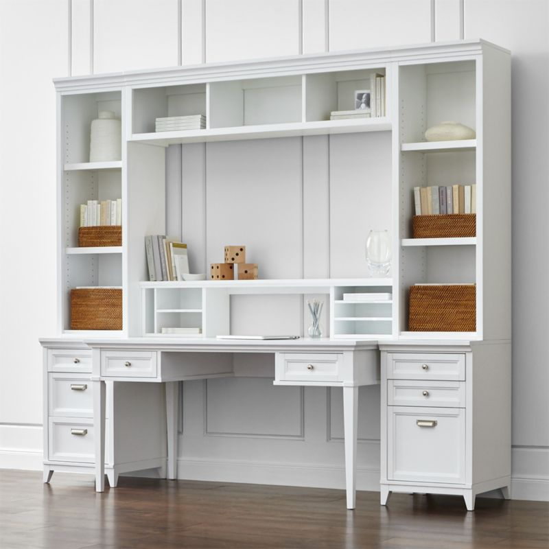 white home office furniture | crate and barrel