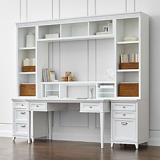 Harrison 7-Piece White Modular Home Office
