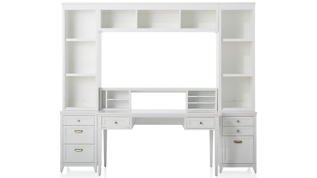 Harrison 7-Piece White Modular Home Office