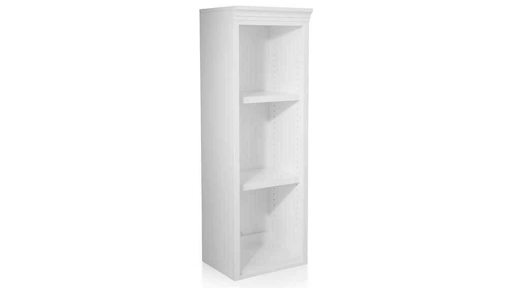 """Harrison 18"""" White Open Bookcase Hutch"""