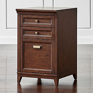 "Harrison 18"" Cognac 3-Drawer Filing Cabinet"