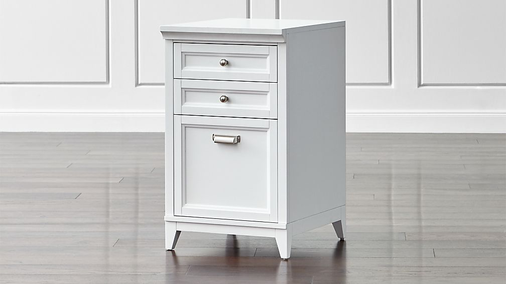 "Harrison 18"" White 3-Drawer Filing Cabinet"