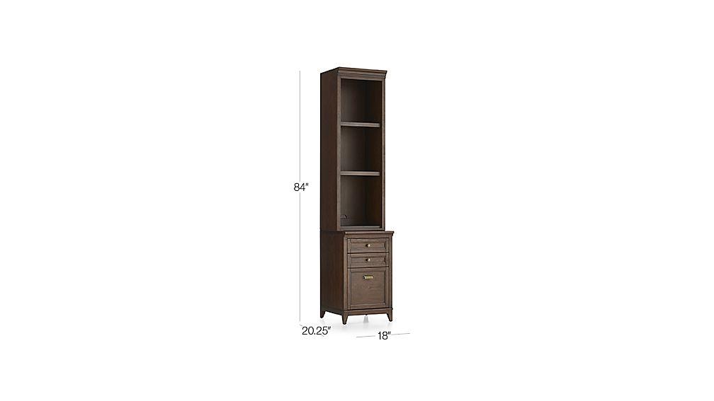 Harrison 18 Quot Cognac Bookcase With Filing Cabinet Base