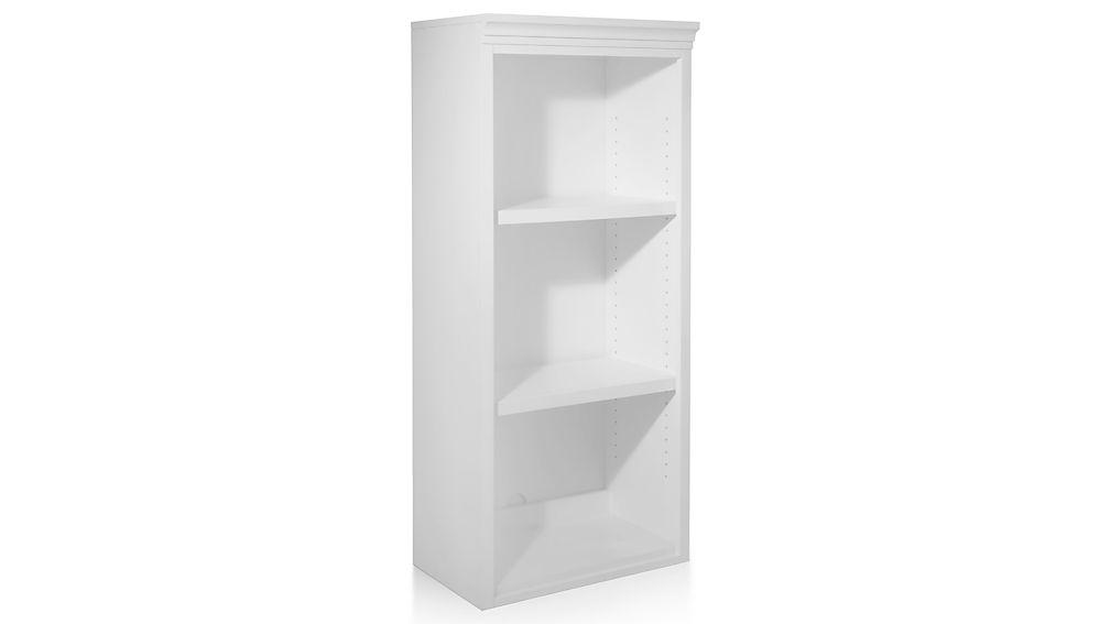 """Harrison 24"""" White Open Bookcase Hutch"""