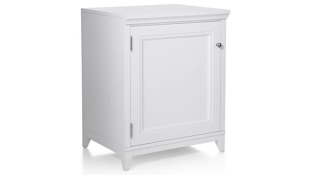 """Harrison 24"""" White Base Cabinet with Door"""