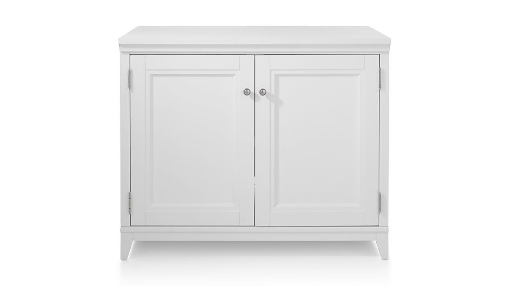 "Harrison 36"" White Base Cabinet with Doors"