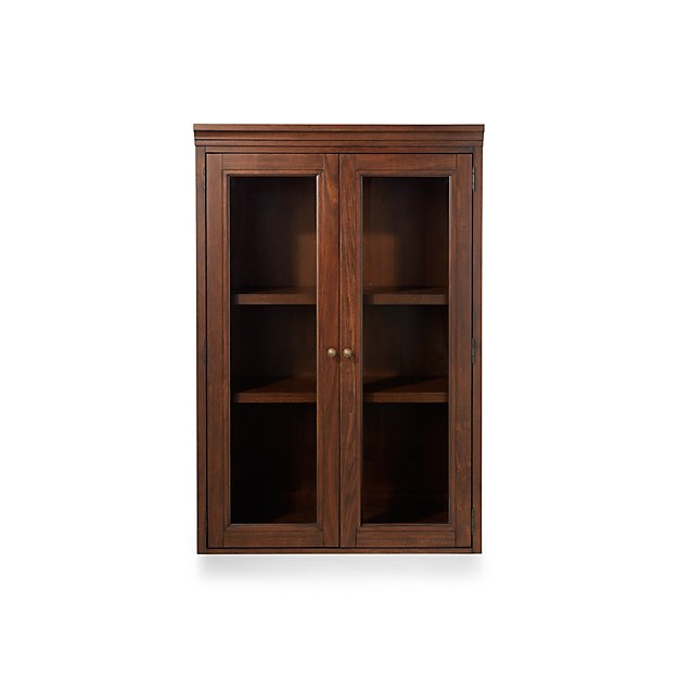 "Harrison 36"" Cognac Hutch with Glass Doors"