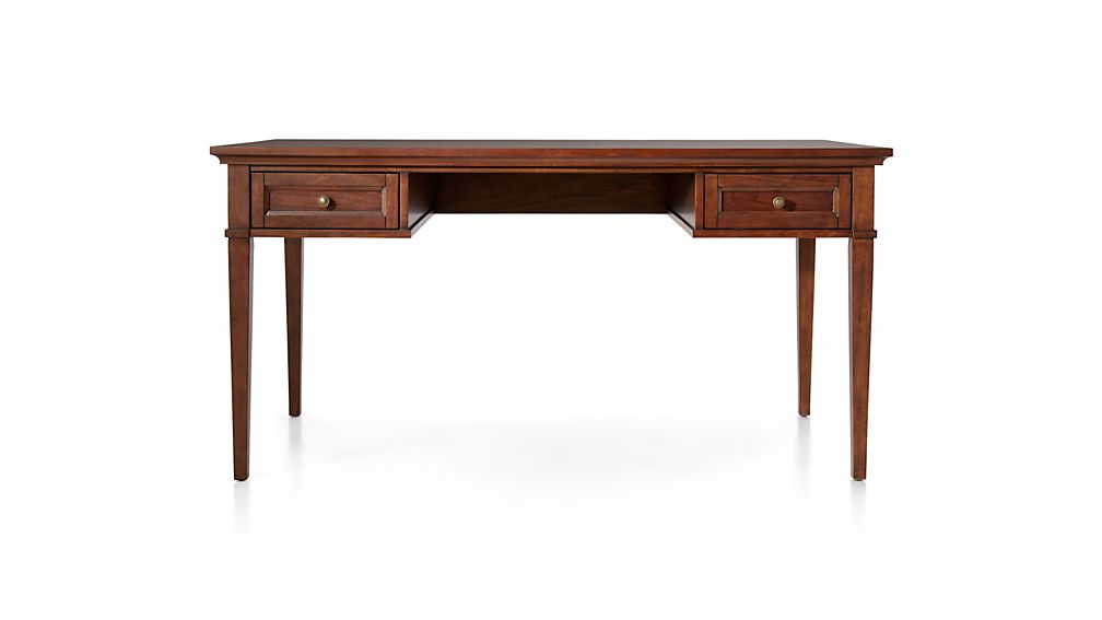 "Harrison 60"" Cognac Desk with Drawers"