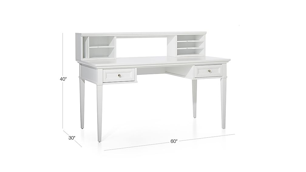 Harrison White 60 Quot Desk With Hutch Crate And Barrel