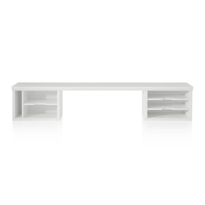 White Desk Table Part - 20: Crate And Barrel