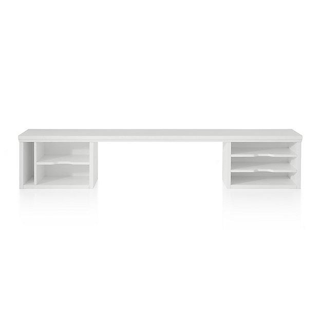 """Harrison 60"""" White Desk Hutch"""