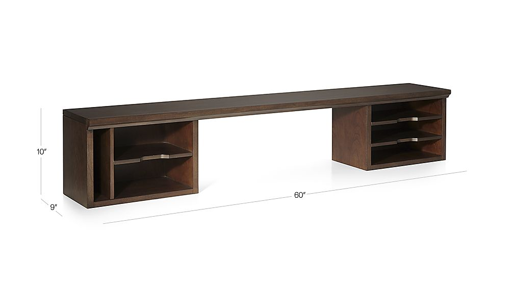 Tap To Zoom Image With Dimension For Harrison 60 Cognac Desk Hutch