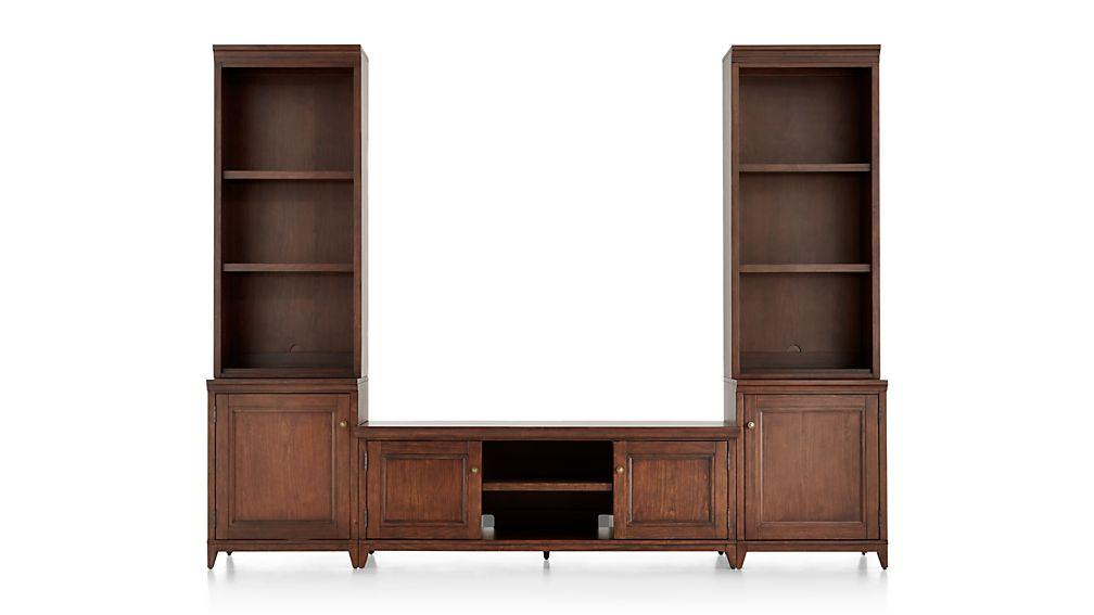 Harrison 5-pc Cognac Entertainment Center/Open Bookcases