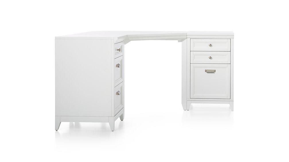 Harrison 3-Piece White Corner Desk Office Suite