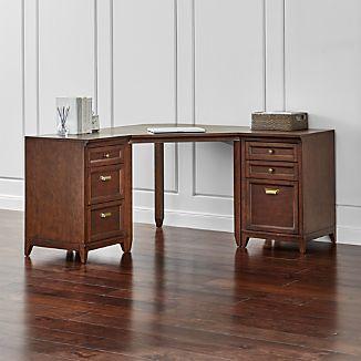 Harrison 3-pc Cognac Corner Desk Office Suite