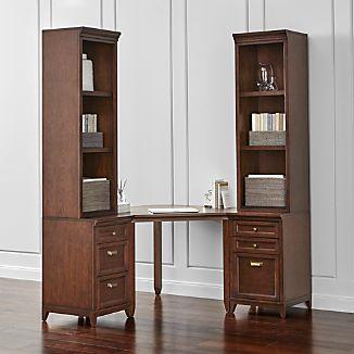 Harrison 5-pc Cognac Corner Desk Office Suite