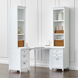 Harrison 5-Piece White Corner Desk Office Suite