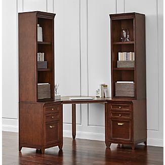 Harrison 5-pc Cognac Corner Desk Filing Suite