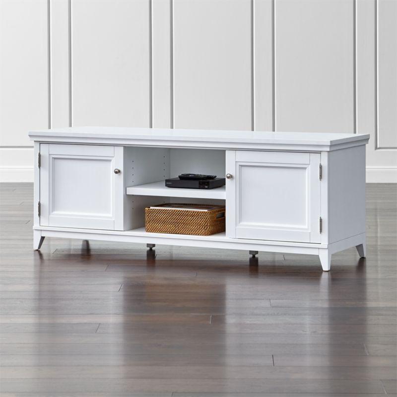 harrison white modular media stand