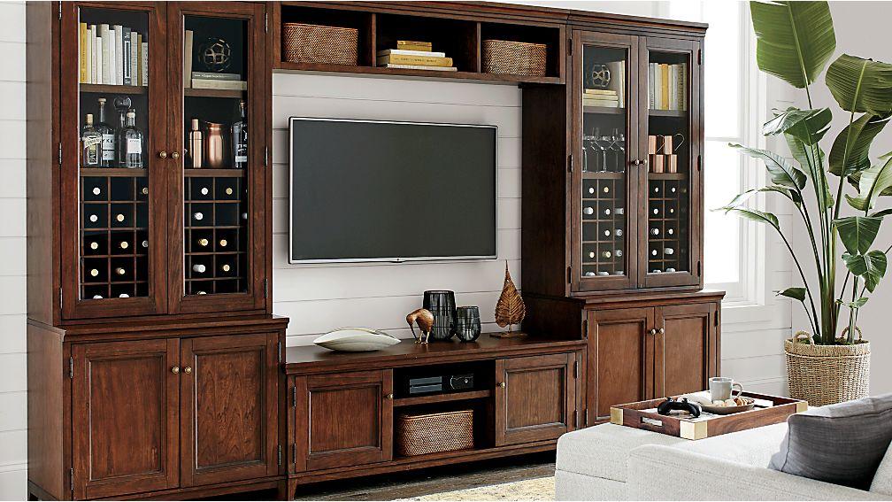 """Harrison 2-pc Cognac 24"""" Open Top Bookcase"""