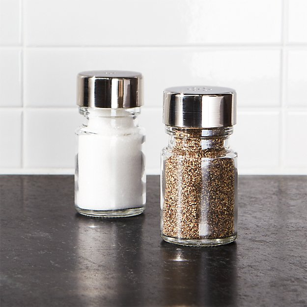 Salt and pepper shakers set crate and barrel Funky salt and pepper grinders