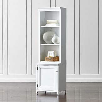 "Harrison 2-Piece White 24"" Open Top Bookcase"