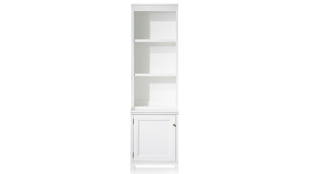 """Harrison 2-Piece White 24"""" Open Top Bookcase"""