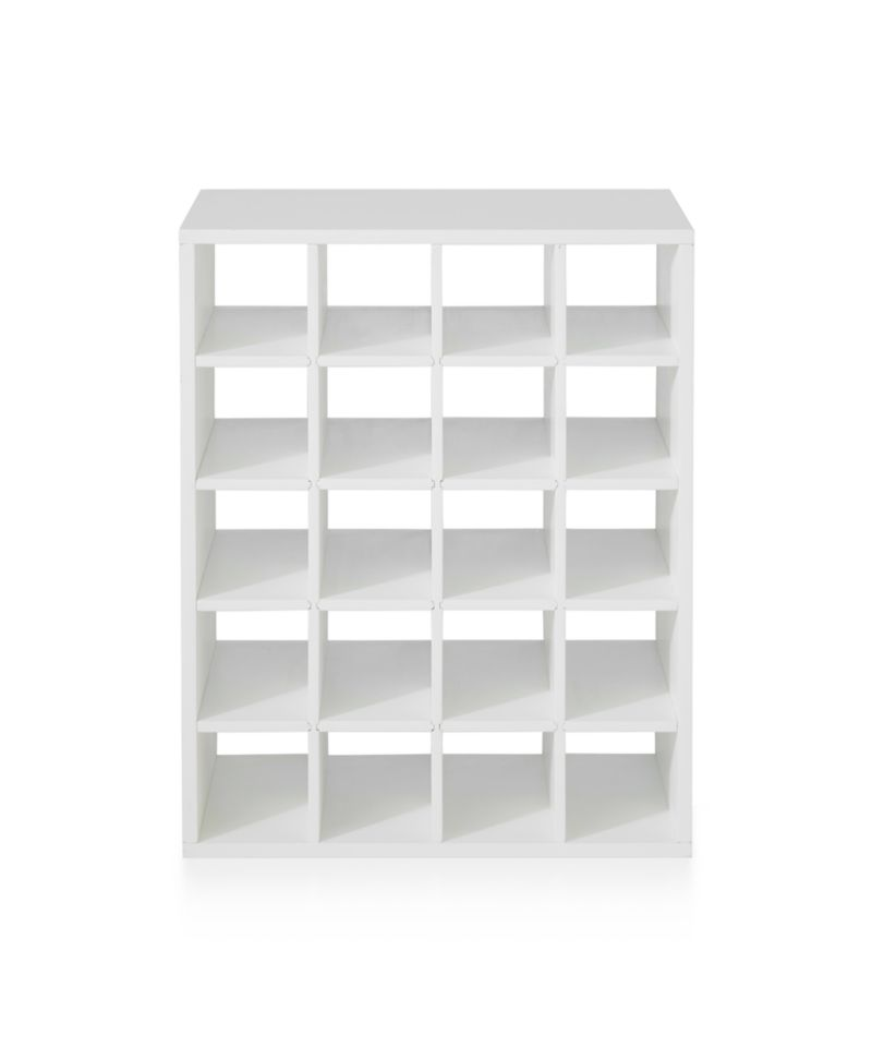 Harrison White Modular Wine Rack Insert Reviews Crate