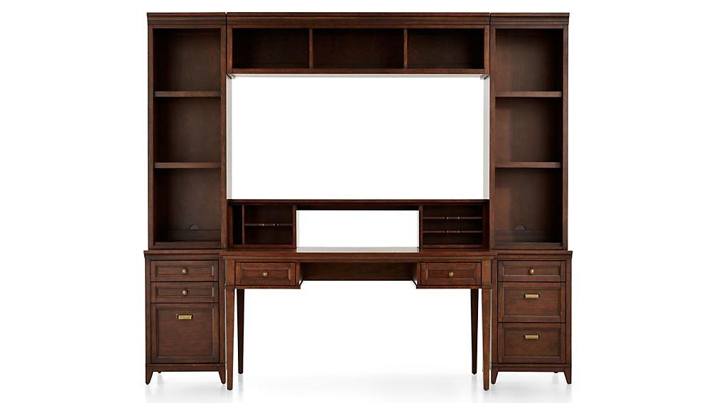 Harrison 7-pc Cognac Modular Home Office