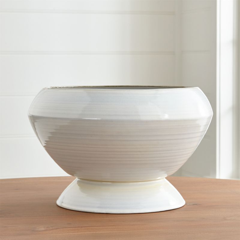 White Decorative Bowl Inspiration Harvest Ceramic Centerpiece Bowl  Crate And Barrel Inspiration Design