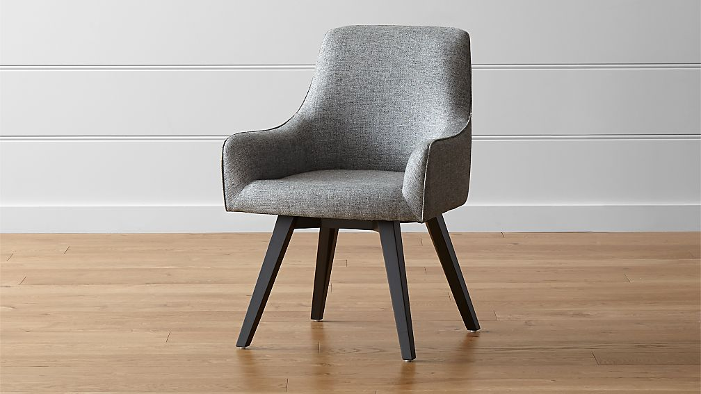 Harvey Black Swivel Armchair Reviews Crate And Barrel