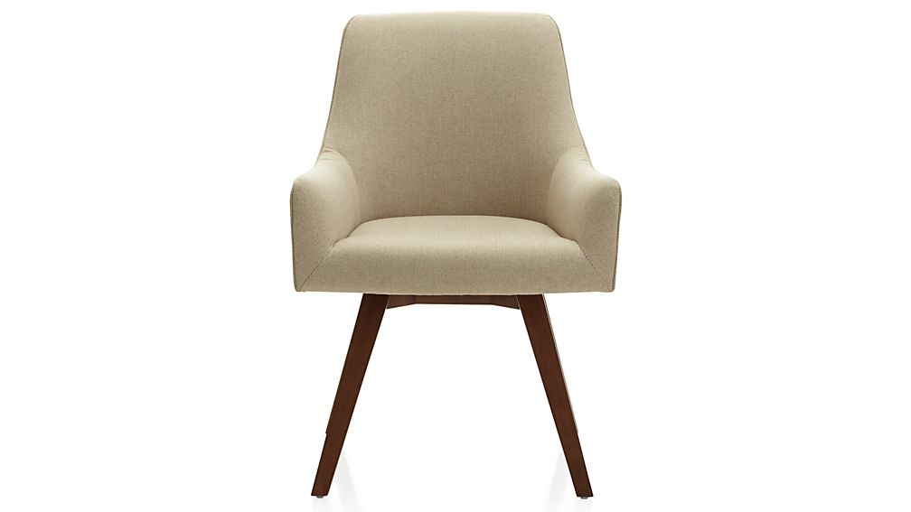 Awesome 70 upholstered office chair design inspiration of for Crate and barrel armless chair