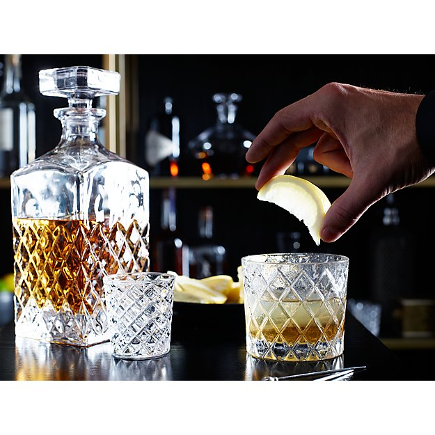 Hatch Cut Glass Decanter In Decanters Amp Carafes Reviews