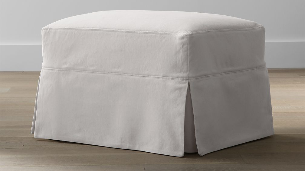 Slipcover Only for Hathaway Ottoman ... - Slipcover Only For Hathaway Ottoman Crate And Barrel