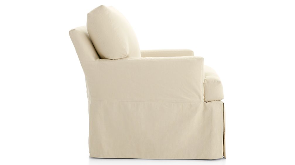 Hathaway Slipcovered Swivel Glider