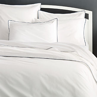 Haven Blue Percale Duvet Covers and Pillow Shams