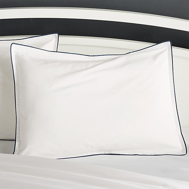 Haven Standard Blue Percale Pillow Sham - Image 1 of 3