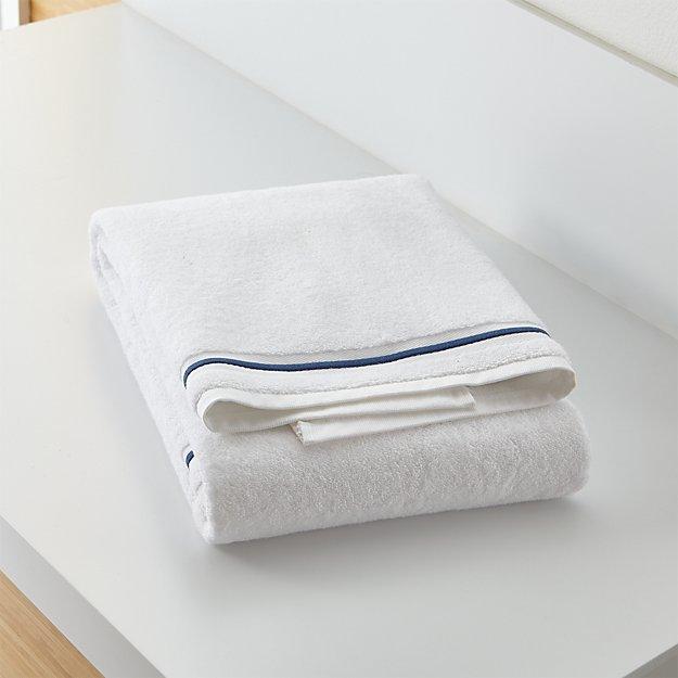 Haven 700 Gram Organic Blue Bath Towel Reviews Crate And Barrel