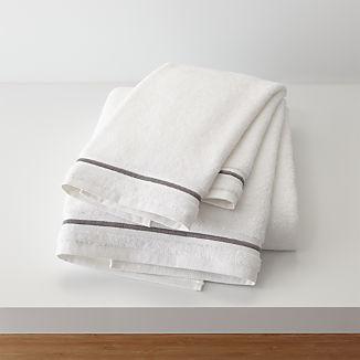 Haven 700-Gram Organic Grey Bath Towels