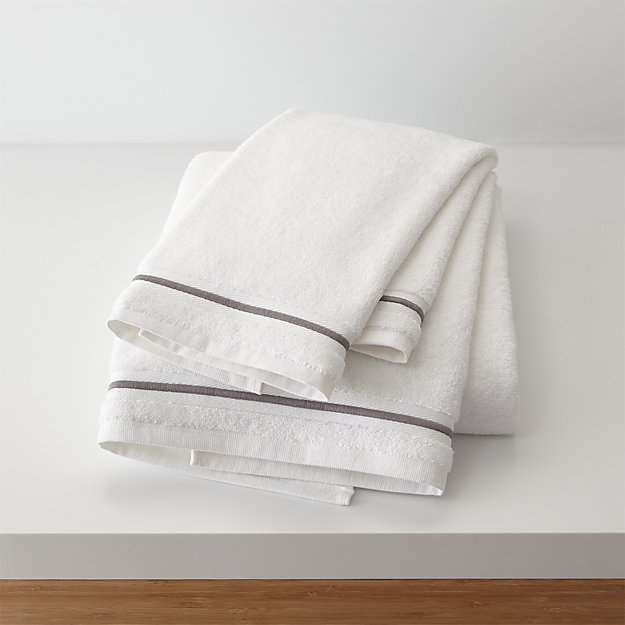 Haven 700-Gram Organic Grey Bath Towels - Image 1 of 4