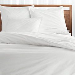Haven Twin White Percale Duvet Cover
