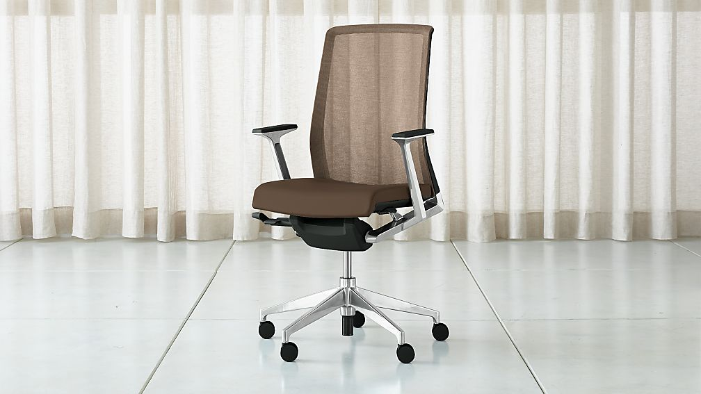 Haworth Very Mesh Back Desk Chair Reviews Crate And Barrel