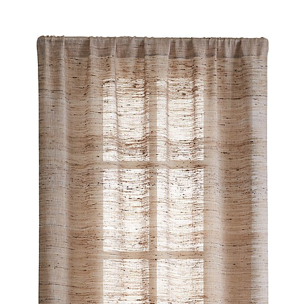 "Hayden 48""x108"" Silk Curtain Panel - Image 1 of 9"
