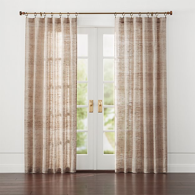 Add warmth and privacy to all rooms of your home with curtains. Browse a variety of styles including grommet, pocket, blackout and sheer. Sale. Up to 50% purchased at Crate and Barrel and CB2. LEARN MORE. Desmond Silver/Cream Curtain Panels $ - $
