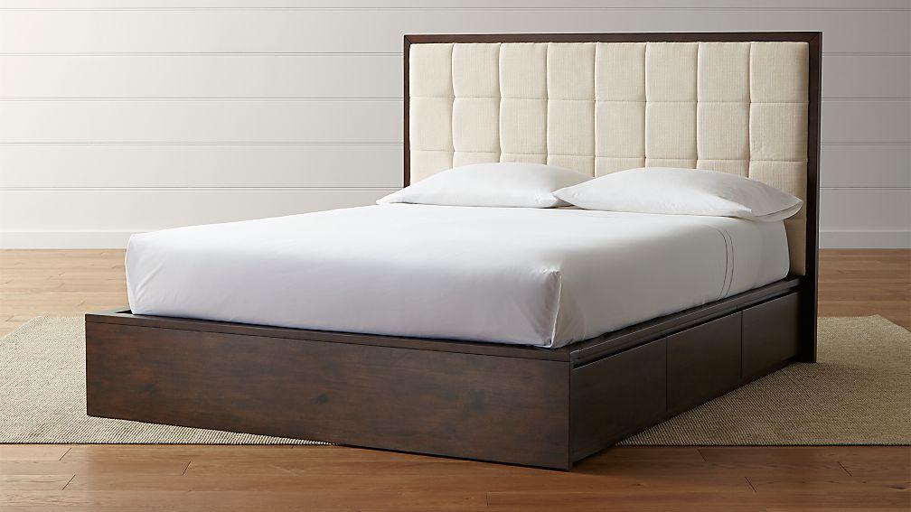 Hayden Natural Queen Storage Bed Reviews Crate And Barrel